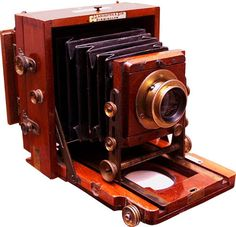 Folding Instantograph Camera By Lancaster 1897.  - click to enlarge.