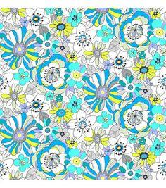 Tutti Fruitti Fabric- Liberty Lights Large Floral Teal