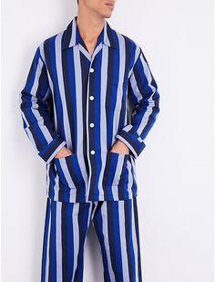 148cf615ae DEREK ROSE - Striped cotton pyjama set