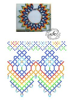 off loom beading techniques Diy Necklace Patterns, Bead Loom Patterns, Beaded Jewelry Patterns, Beading Patterns, Beaded Crafts, Bead Jewellery, Bead Crochet, Free Crochet, Crochet Pattern