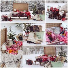 Kristín Vald - Winter picnic collage