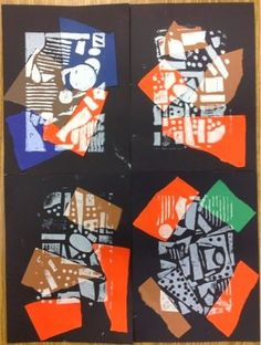 Use up paper scraps and use trees as print subject for fall theme. For several years, my third graders have explored collograph printing by creating snowy evergreens. Our timing didn't quite work out th. 3rd Grade Art Lesson, Third Grade Art, Ecole Art, School Art Projects, Middle School Art, High School, Art Lessons Elementary, Art Lesson Plans, Art Classroom