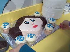 R2D2 cup cakes & Princess Leia cake