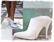 ac31c2ec56ba ALEXANDER WANG 39 Women s White Leather Ponyhair Mules Heels US 8 8.5