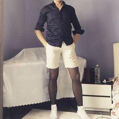 Pantyhose Fashion, Mens Tights, Comfy Pants, Tights Outfit, Modern Fashion, Hosiery, Socks, Sporty, Legs