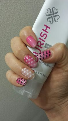 Pop Heart, Kiss Me Ombre (retired). Jamberry Nails jamwrapnation.com