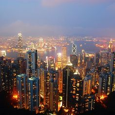 This is surely a city where no one ever sleeps. Beautiful World, Beautiful Places, Beautiful Pictures, Places Around The World, Around The Worlds, City Skyline Night, Holiday Places, City Landscape, Travel Memories
