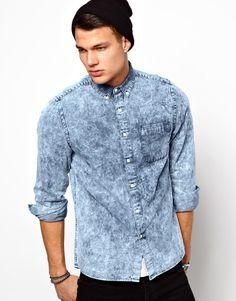 Image result for washed denim shirts