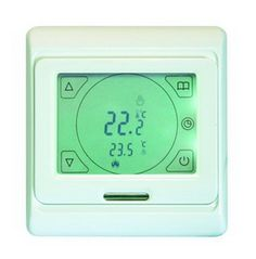 Buy discounted digital 7 day and 6 event touchscreen thermostat for Thermonet electric underfloor heating systems from UK Tiles Direct Dorset Electric Underfloor Heating Mat, Underfloor Heating Systems, Tiles Direct, Wooden Flooring, Cooking Timer, Tent, Digital, Range, Store