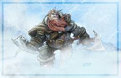 Dwarf in Snow Storm by ZipDraw.deviantart.com on @deviantART