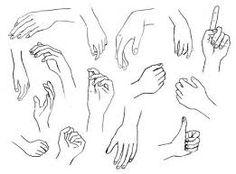 Como dibujar una mano manual manos real anime  paso a paso