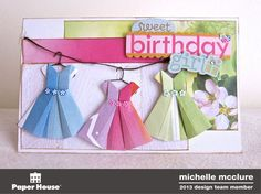 Girl Origami Card - Michelle McClure
