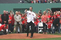 """Tim Wakefield: """"I have to thank the Red Sox for giving me the best 17 years of my life. Thanks to my teammates. You guys have always had my back. Last but not least the fans, like I said in February, every time I took the mound I gave everything I had and every time I walked off you always gave me a standing ovation. I will cherish the memories we shared together from '04-'07 and all the 17 years in between. Thank you from the bottom of my heart. I love you guys. Thanks for being here…"""