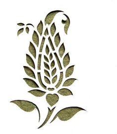 Paper-cut is not the same Leaf Stencil, Stencil Painting, Fabric Painting, Stencil Patterns, Stencil Designs, Paint Designs, Deco Cuir, Art N Craft, Rangoli Designs