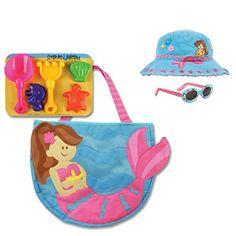 19a07799935 Stephen Joseph Mermaid Beach Tote Bag with Mermaid Bucket Hat and  Sunglasses for Kids Kids Sunglasses