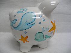 Cute Whale Piggy Bank! DIY- I think SO!! :)