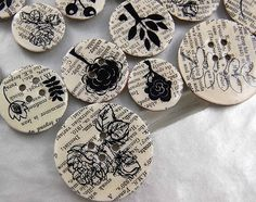 make your own buttons - lots of inspiration button photos on this site