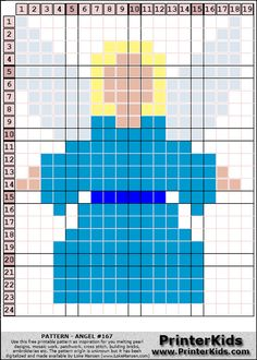Angel Christmas perler bead pattern
