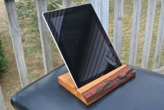 Rustic Home Decor Wooden iPad Holder Unique Fathers Day by JCBees, $95.00