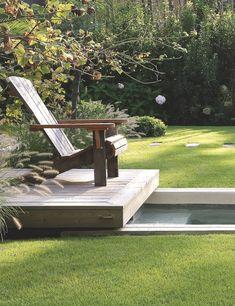 A wooden house in Cap Ferret, France Outdoor Furniture Sets, Outdoor Decor, Wooden House, Garden Bridge, Sun Lounger, Outdoor Gardens, Terrace, Outdoor Structures, France