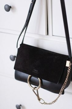 The Small Black Chloe Faye Bag Chloé, Faye, Black, Bag www. Chloe Bag, Faye Bag, Bag Prada, Cute Bags, Luxury Bags, Luxury Handbags, Chanel Handbags, Chanel Tote, Small Bags