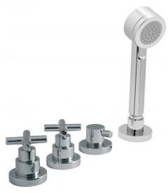 Elements Water 4 Hole bath shower mixer without spout by VADO    --  for use with bath filler wate ad overflow.    -- Stylish and popular design combined with high performance mixers and thermostatic showers to provide a refreshing and uplifting start to your day.