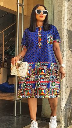 Best African Dresses, African Fashion Dresses, Fashion Outfits, African Print Fashion, Africa Fashion, Blue Dresses For Women, Ankara Skirt And Blouse, Africa Dress, Short Gowns