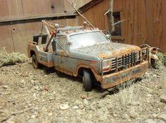 Revell 1980 80 Ford Wrecker Junkyard Junk Diorama 124 125 Weathered   eBay