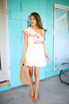 LOVE this tassel dress, Southern Curls and Pearls blog