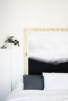 Nordic deco | mountain wall print DIY