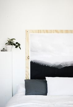 Nordic deco | mountain wall print DIY