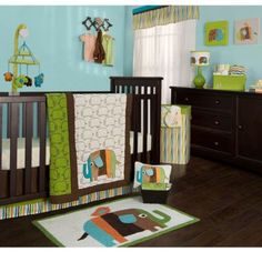 If BY is a boy!? Zutano Elephants Crib Bedding Collection - BedBathandBeyond.com