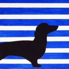 Dog Silhouette Art | Looksi Square