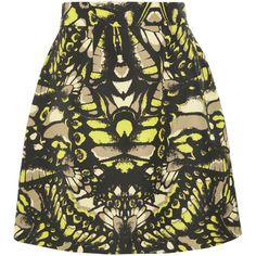 McQ Alexander McQueen Butterfly Camouflage printed cotton-blend faille... (3.673.220 IDR) ❤ liked on Polyvore featuring skirts, bottoms, green, green skirt, camo skirt, mcq by alexander mcqueen, butterfly print skirt and butterfly skirt