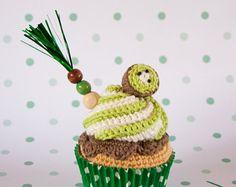 Cupcake de crochet #34 de kiwi [Summer collection]