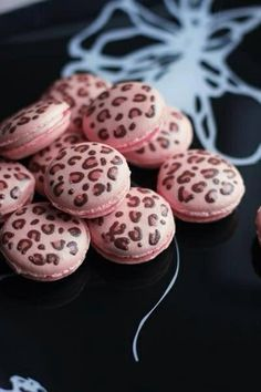 Leopard pink macaroon...cute for a baby shower or birthday