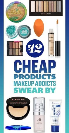 42 Cheap Products Makeup Addicts Swear By. Most you can get at the drugstore for the best prices and flawless skin.