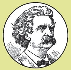 Mark Twain button is 1″ in diameter with a b/w portrait of the literary luminary. Handmade in Portland, Oregon.
