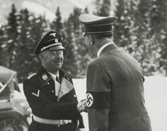 A handshake between Adolf Hitler & Heinrich Himmler.
