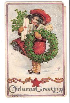fete noel vintage gifs images - Page 42 Vintage Christmas Images, Victorian Christmas, Vintage Holiday, Christmas Pictures, Vintage Images, Vintage Greeting Cards, Christmas Greeting Cards, Christmas Greetings, Vintage Postcards