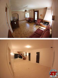 Restauration du salon. Il manque le béton ciré et la cuisine puis.. on emménage !