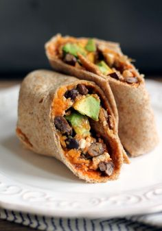 Sweet Potato & Black Bean Breakfast Burrito