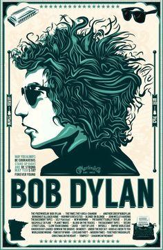 Framed Vintage Music Concert Poster  Bob Dylan1966 (Replica Picture Artwork)