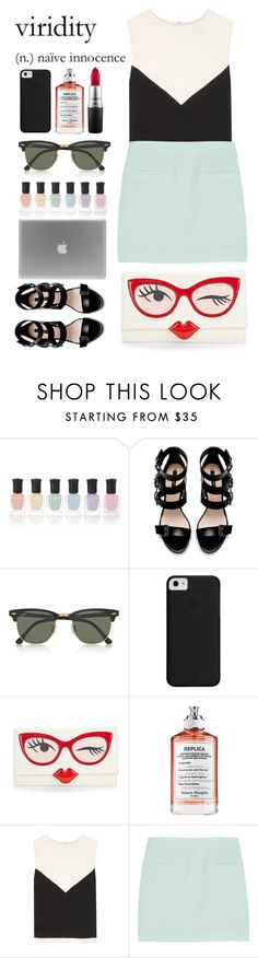 """A RIFT IN SPACE AND (SUMMER)TIME"" by laughtersassassin ❤ liked on Polyvore featuring Deborah Lippmann, Zara, Ray-Ban, Kate Spade, Maison Margiela, Balenciaga, T By Alexander Wang and MAC Cosmetics"