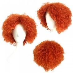 Mad Hatter Orange Color Short Curly Cosplay Wig Halloween Christmas Party Fancy Costume - ORANGE