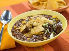 """Easy Beefy Texas Chili (Munch Madness) - Sunny Anderson, """"The Kitchen"""" on the Food Network. Kitchen Recipes, Gourmet Recipes, Mexican Food Recipes, Cooking Recipes, Easy Cooking, Mexican Meals, Healthy Recipes, Diabetic Recipes, Chili Recipe Food Network"""