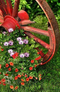 Vermont Wagon Wheel by LVshooter, via Flickr