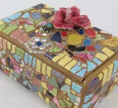 Melissas Motifs Pique Assiette Mosaic Boxes, Mirrors, Bowls and other gifts, and how to make mosaics book