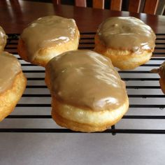 Homemade maple bars using refrigerated biscuit dough  OMG more calories than I chose to think about but these look wonderful~~