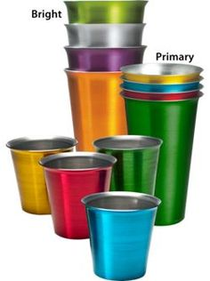 Missy cups  Jewel-Tone Aluminum Tumblers Keep Drinks Refreshingly Cold